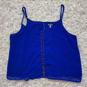 ✨LIKENEW Royal Blue Tank Top with Gold Hardware ✨